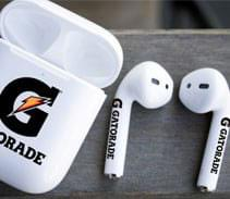 We now offer the capability to print on the earbud stems to take your branding to the next level