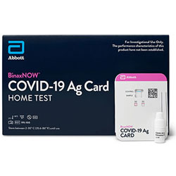 Abbott BinaxNOW COVID-19 at Home Test Kit
